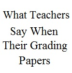 What Teachers Say When Grading Papers_Small