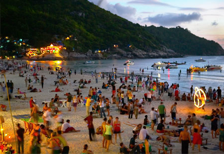 Full Moon Party, Koh Pagnan, Thailand