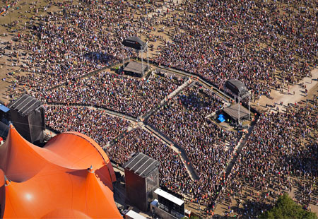 The Roskilde Festival, Denmark