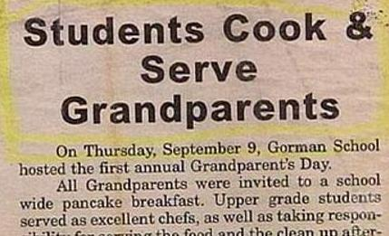 But Grandparents Don't Taste Chewy When Their That Old