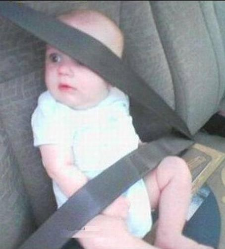 I Don't Think That's What They Meant When They Said You Had To Use A Car Seat