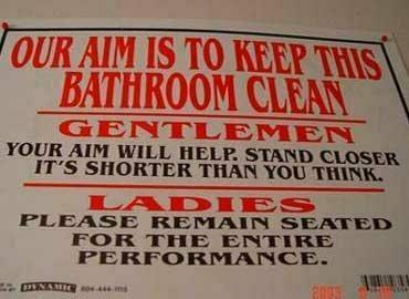 The Nicest Way Ever To Say, DON'T PISS ON THE FLOOR!!!