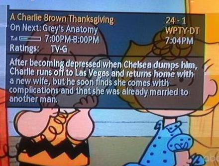 Charlie Brown's Thanksgiving is Ruined