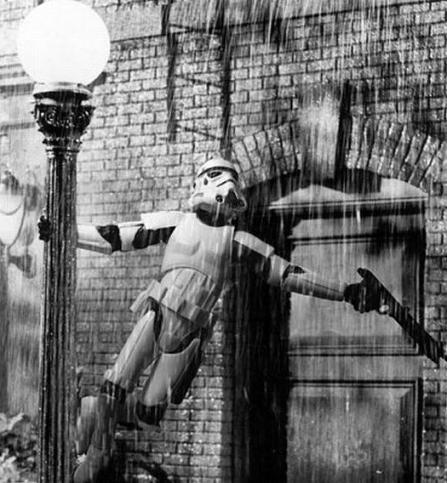 Who Knew Storm Troopers Could Sing In The Rain