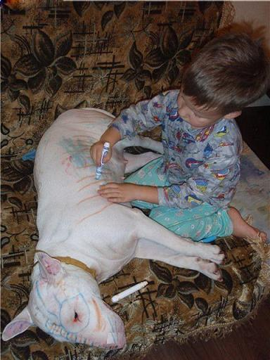 Go Ahead Kid, As Soon As You Fall Asleep I'm Going To Collor You Brown And Not Even Use A Marker