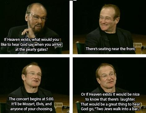 Robin Williams On Heaven