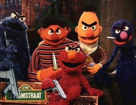 Evil Sesame Sreet