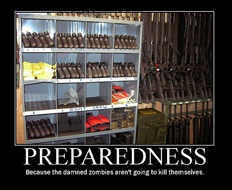 Oh It's The Zombies Your Preparing For