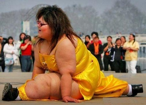 So You Think I'm Fat Huh, Lets See You Do A Split!