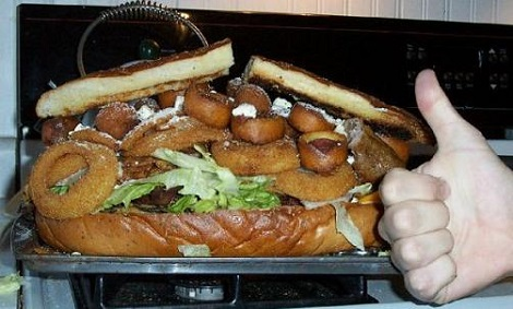 Try Our New Gut Buster Sandwich...For People Who Don't Give A Shit Any More