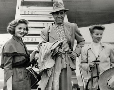 Lauren Bacall, Humphrey Bogart and Katherine Hepburn...Yes He Did Date Both Of Them At The Same Time