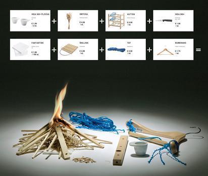 How To Start A Fire Using IKEA Products