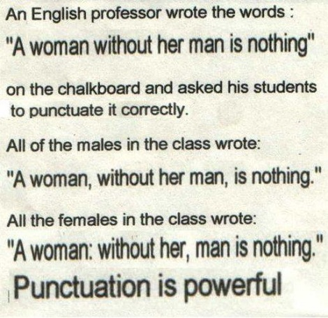 Punctuation Makes All The Difference