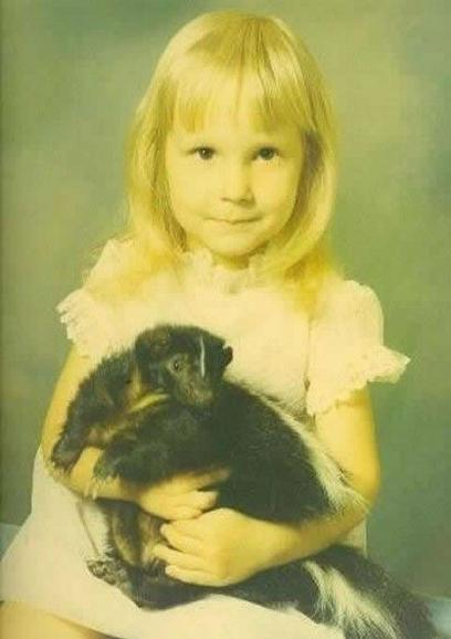 Don't I Look Cute With My Pet Skunk