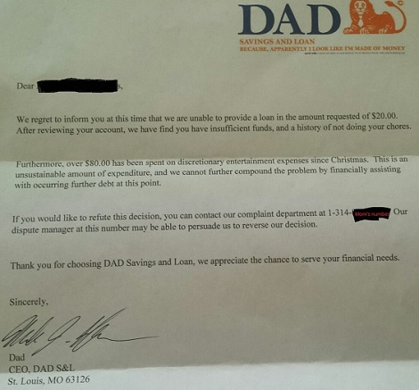 A 6 Year Old Boy Asked For An Advance On His Allowance