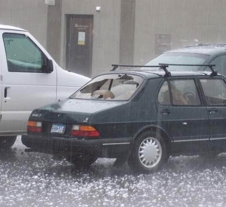I'm Sure The Car Will Be Fine It's Just A Little Hail