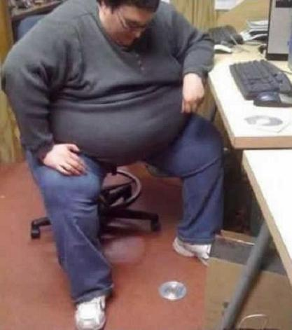 Either Kick It Under The Desk OR Get A Hurnia Just Trying To Bend Down For It