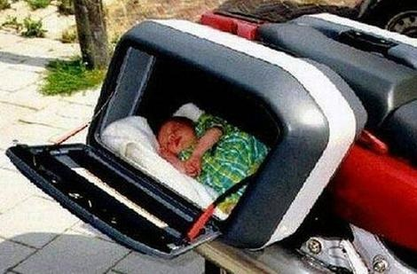 There's A Reason Why They Don't Make Car Seats For Motorcycles