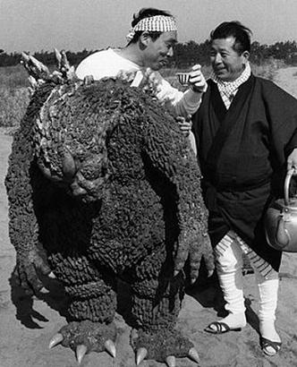 If There's One Thing Godzilla Needs After A Hard Day At the Office It's Cup Saki In A Tea Cup