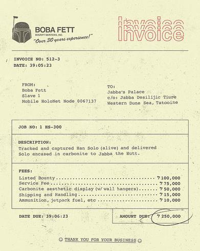 Boba Fett Bounty Hunter Service, How My I Help You