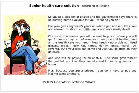 Maxine's Health Care Plan for Seniors