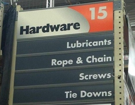 It's A Hardware Store, What Were You Thinking About