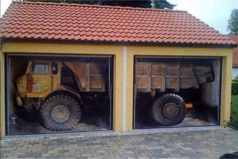 A Bit Of Artwork On The Garage Doors To Confuse The Neighbors